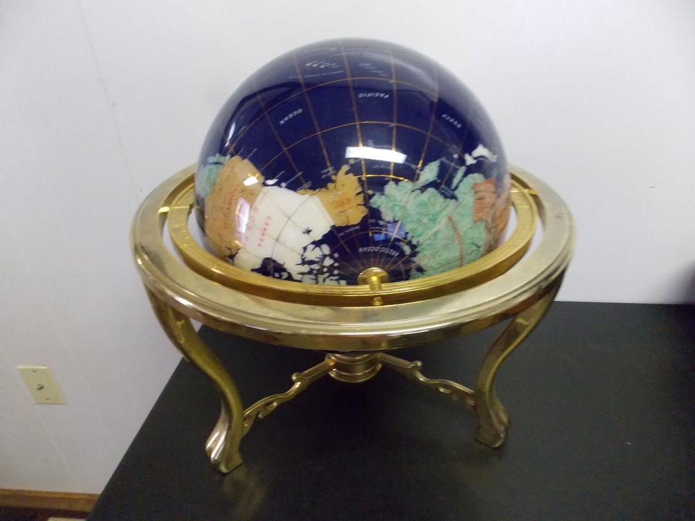 Blue lapis tripod gold leg table gem gemstone world map globe unique blue lapis tripod gold leg table gem gemstone world map globe unique huge gumiabroncs Choice Image