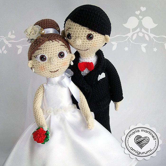 Novios Crochet Patron Gratis Maria Martinez Amigurumi   Patrones ...