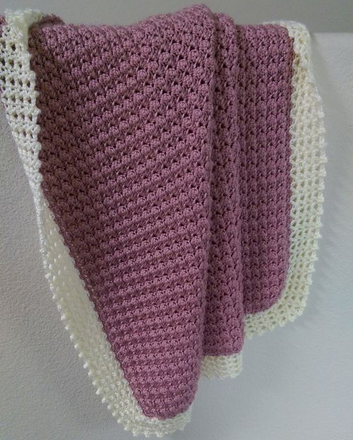 Textured Crochet Baby One Blanket [Free Crochet Pattern]