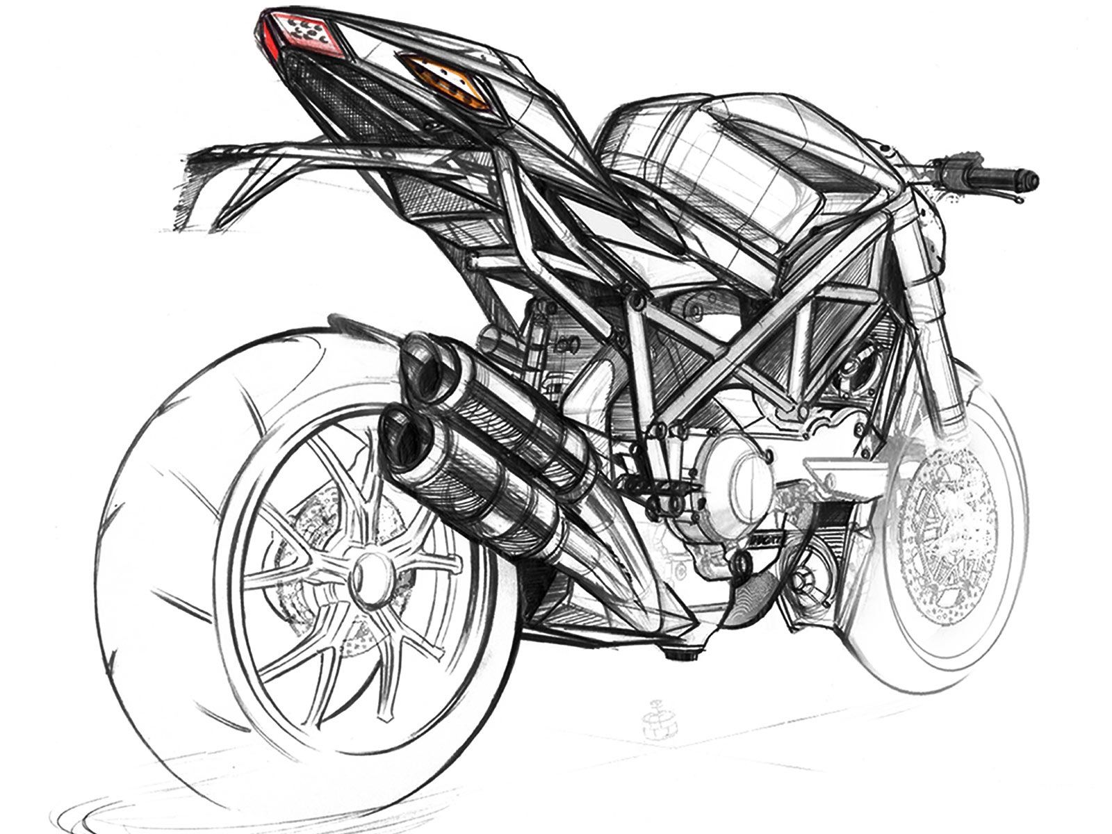 Ducati Streetfigter Sketch Rear | Art and Design | Pinterest ...
