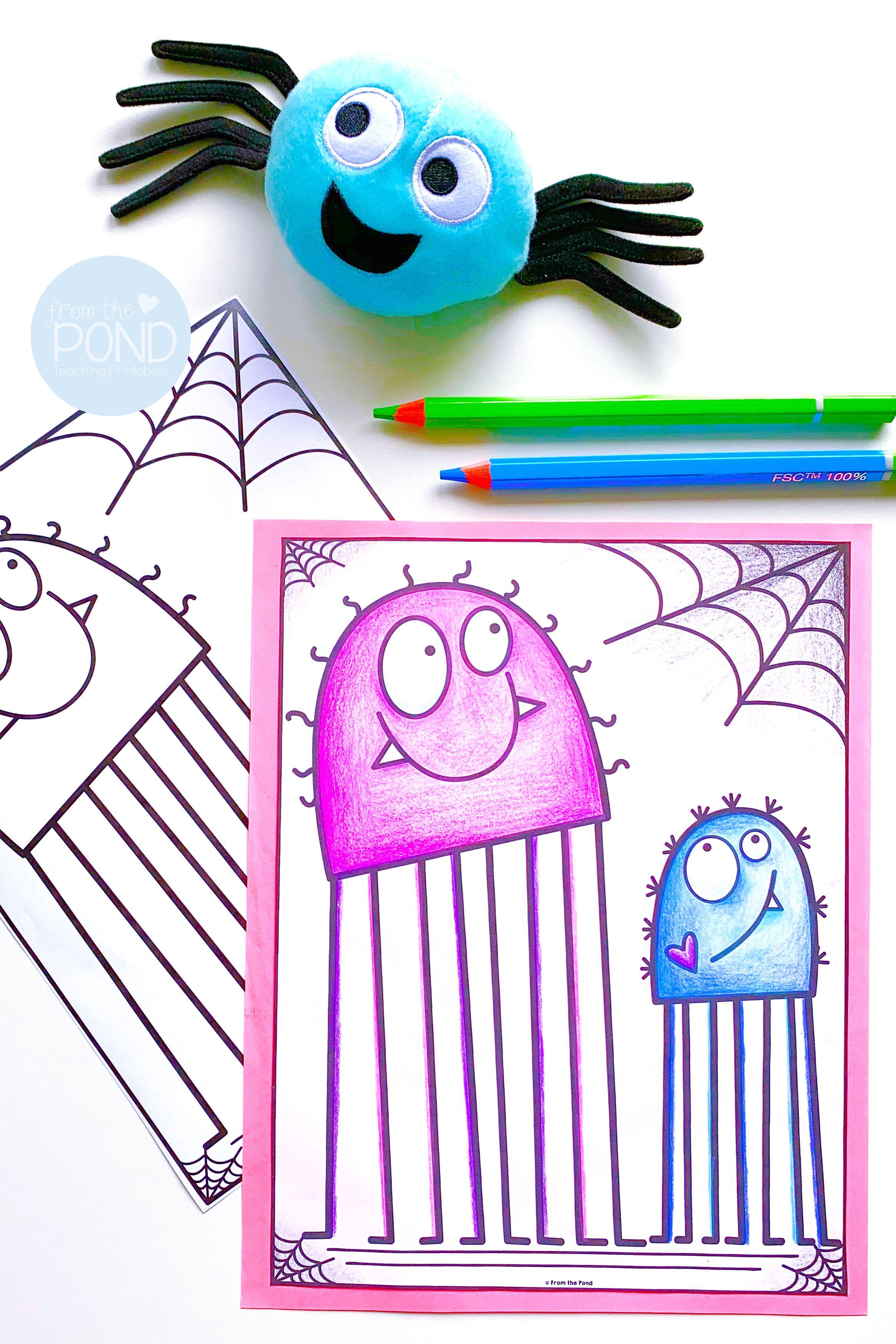 Free Spider Coloring Page Spider Coloring Page Spider Activities Fun Writing Activities [ 3500 x 2334 Pixel ]