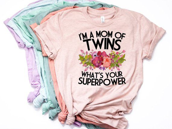 05d818d6a71d86 Mom of Twins, Twins Baby Reveal, Mom of Twins Shirt, Twins, Expecting  Twins, Pregnant with Twins, Su