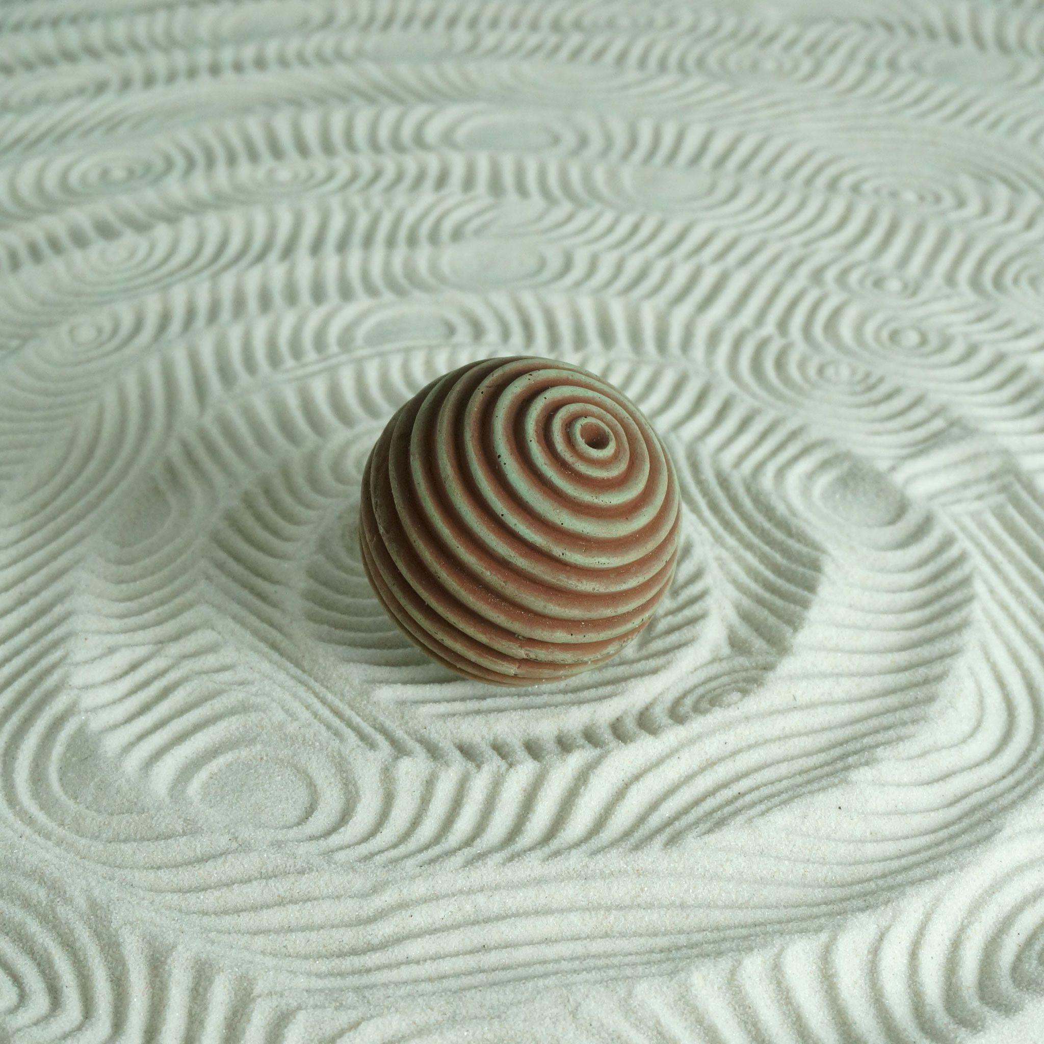 Textured Zen Garden Ball Medium Lines Design Zen Garden