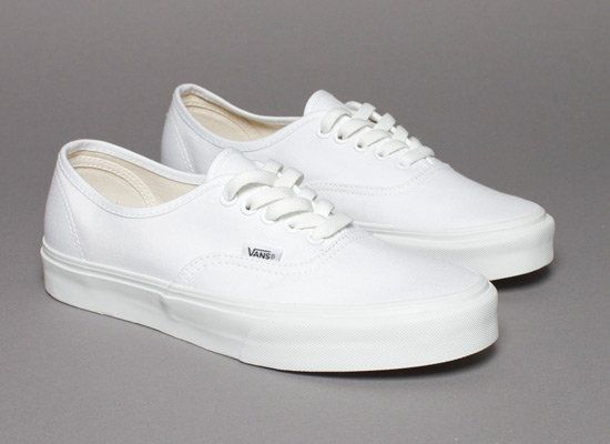 Vans Authentic True White Canvas | Sneakers & More ...