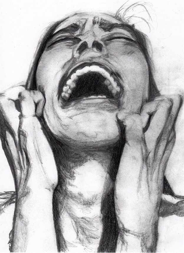 Despair pencil on paper trying to create a deep emotion