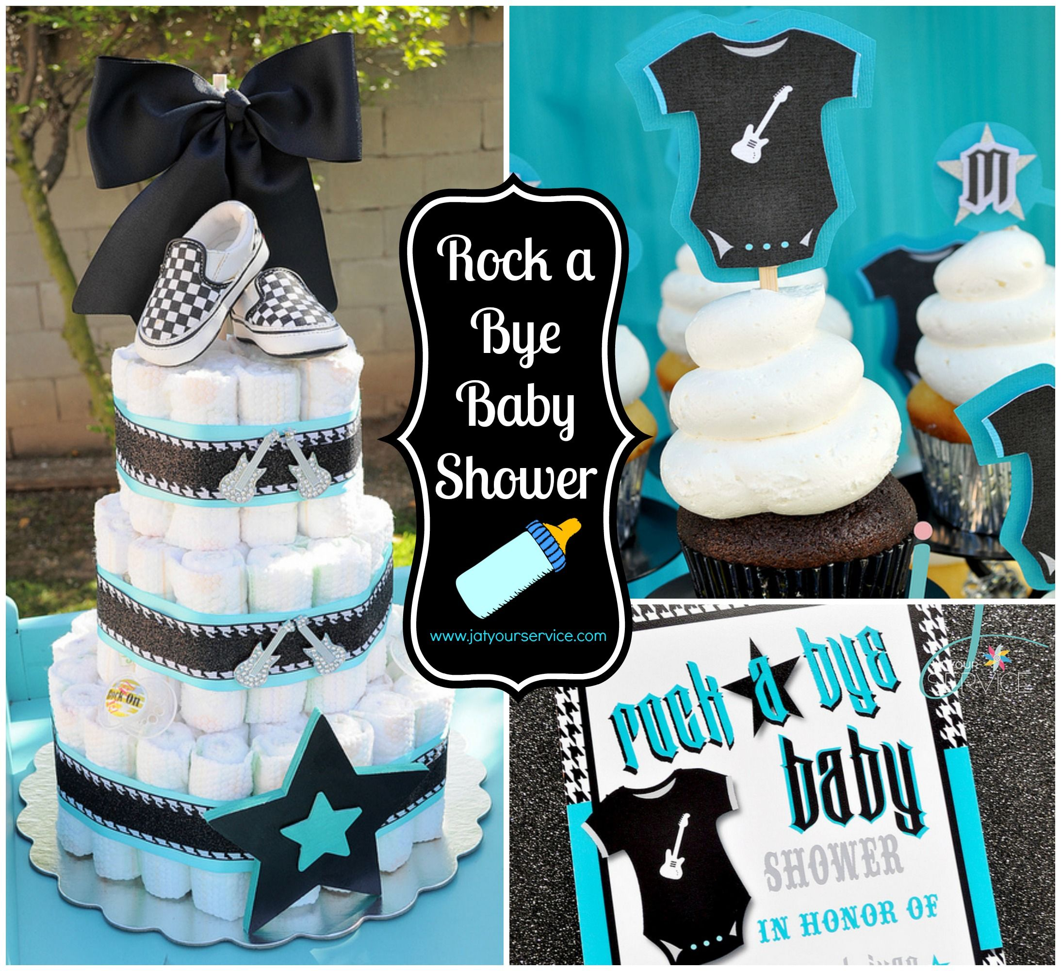 Rock a Bye Baby Shower #itsaboy | Baby Showers in 2019 | Music baby