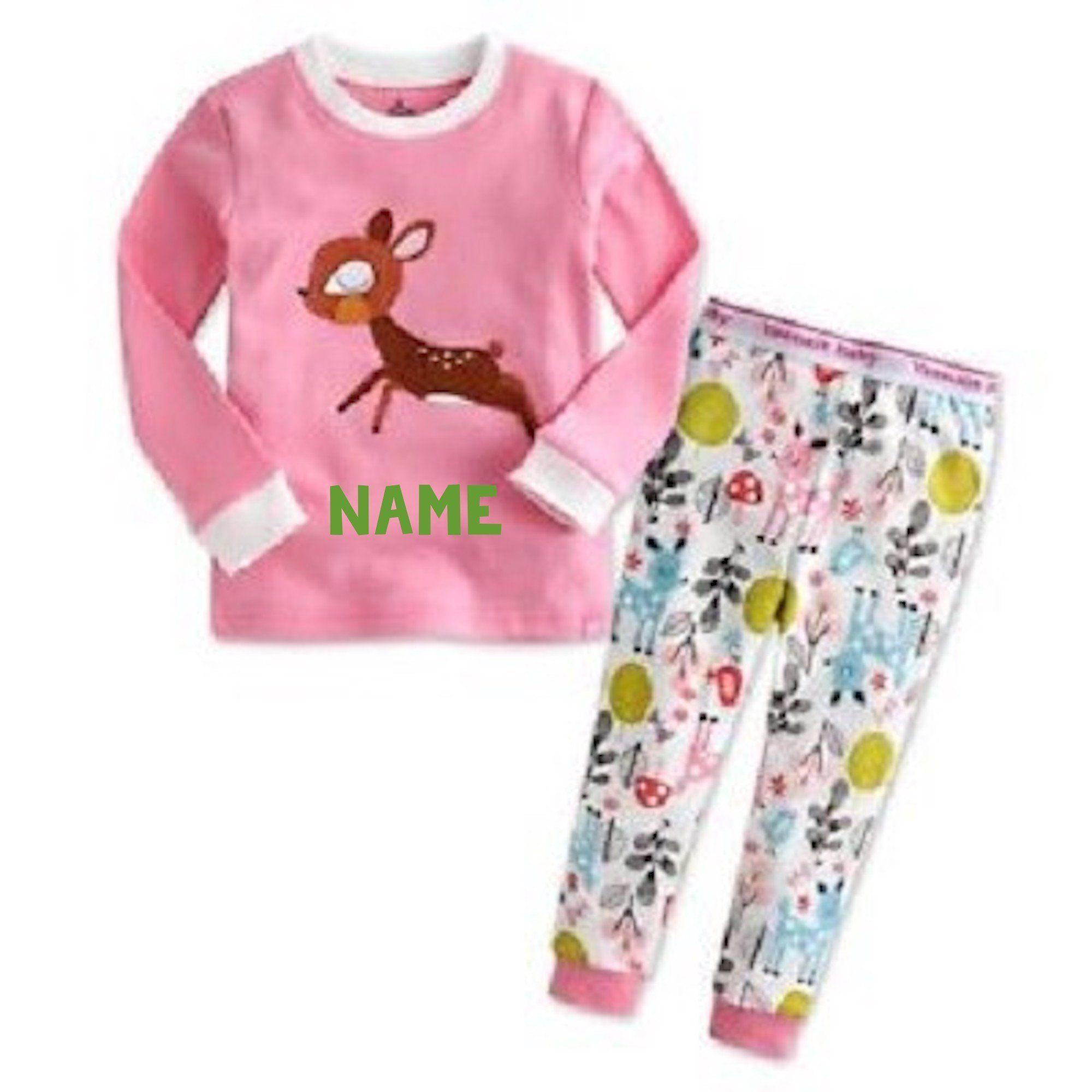 New Childrens Kids Soft Matching Pyjamas Sleepwear Pink Nightwear PJs Sets
