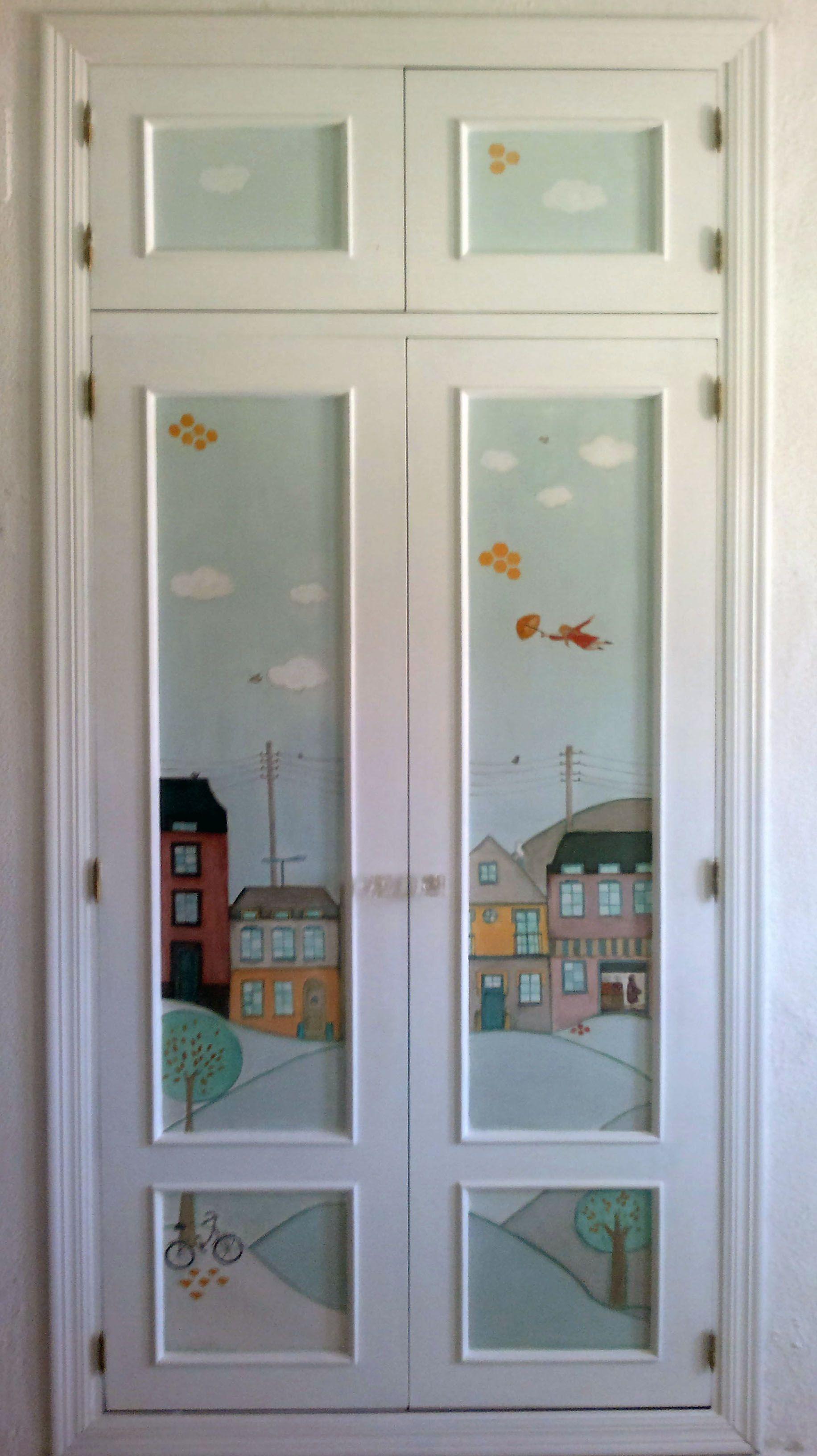 armario empotrado pintado a mano ilustraci n propia