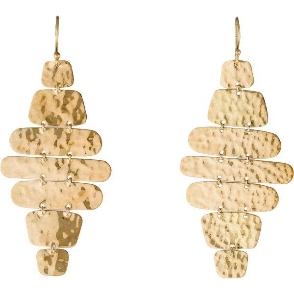 Ippolita Glamazon Cascade Earrings ($975) ❤ liked on Polyvore featuring jewelry, earrings, earrings jewelry, 18k earrings, hammered jewelry, ippolita earrings and ippolita jewelry