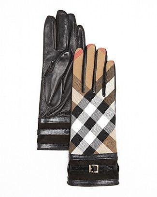 75d00b88b42 Burberry Bridle Housecheck Nicola Cuff Gloves   Bloomingdale's   My ...