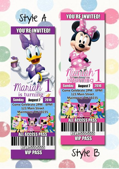 ON SALE Minnie Mouse Daisy Duck Birthday Party By DigiPopCards