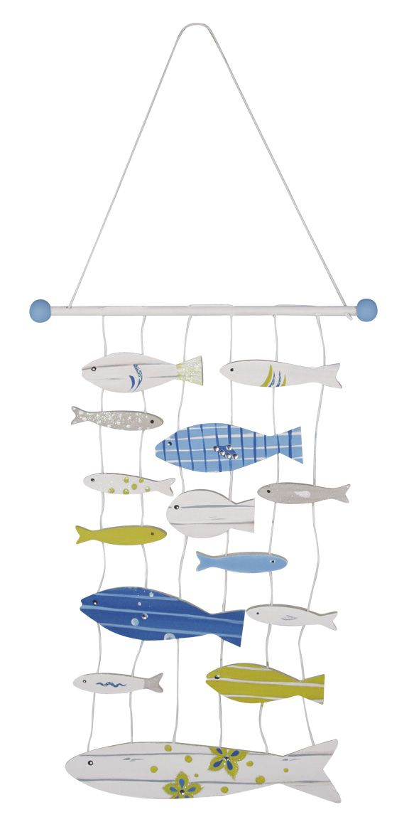Decorated Fish Mobile - available from www.glitterwitch.co.uk