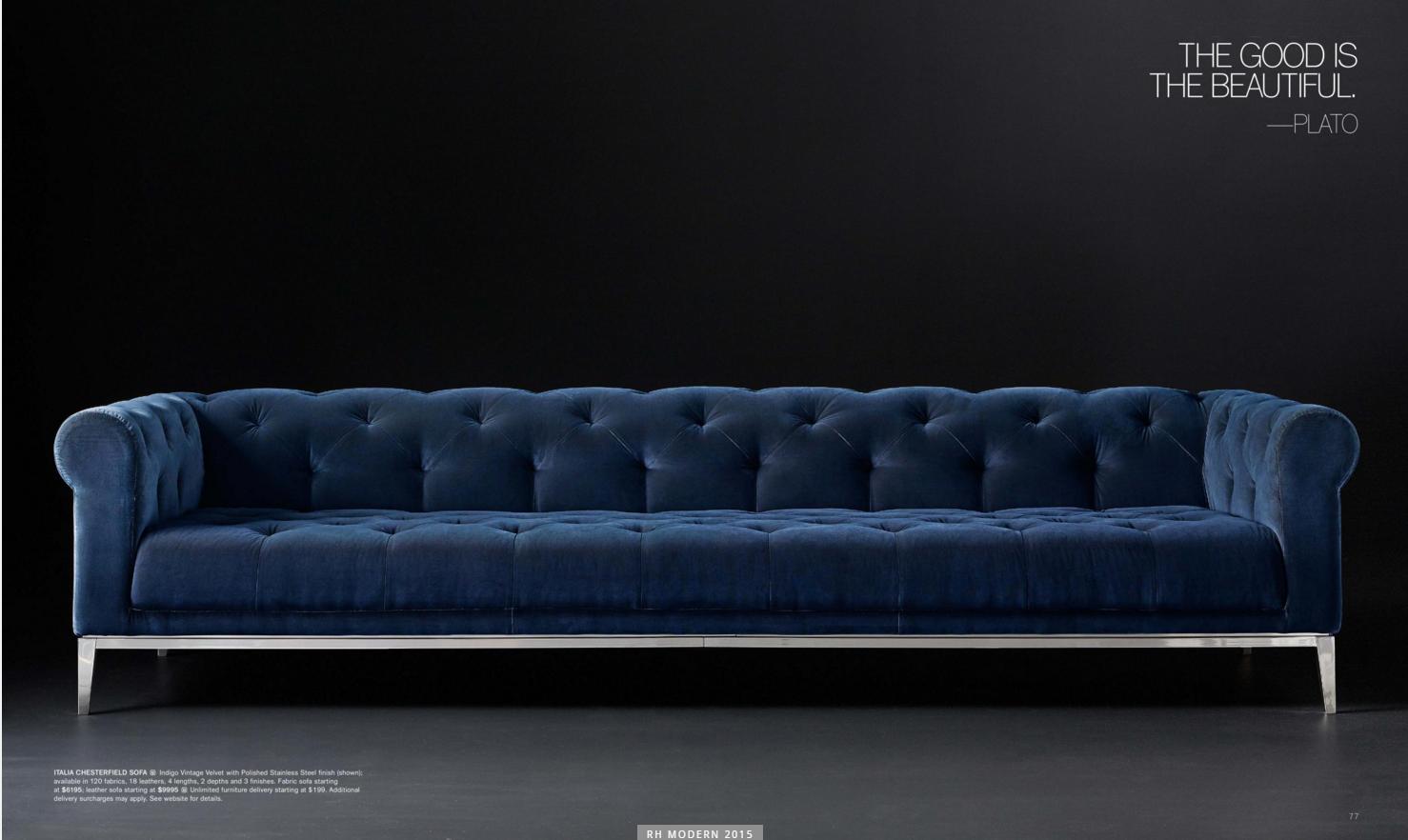 Italia Chesterfield Sofa From Rh Modern