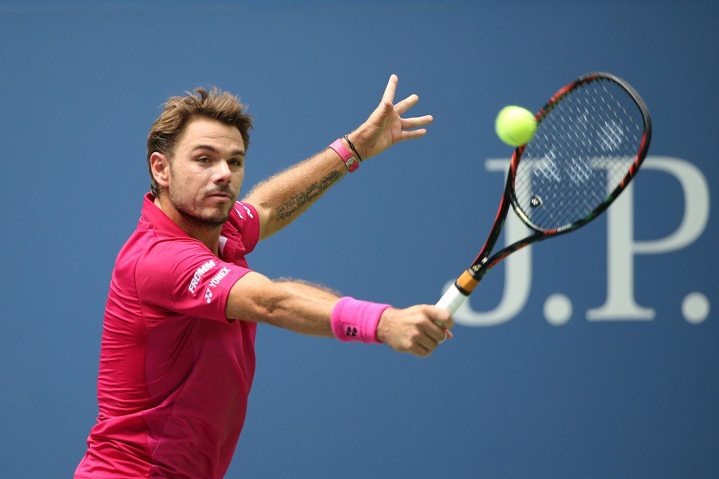 Men S Round 1 Continues August 30 2016 Stan Wawrinka In Action Against Fernando Verdasco During The 2016 Us Open At Stan Wawrinka Tennis Professional Tennis