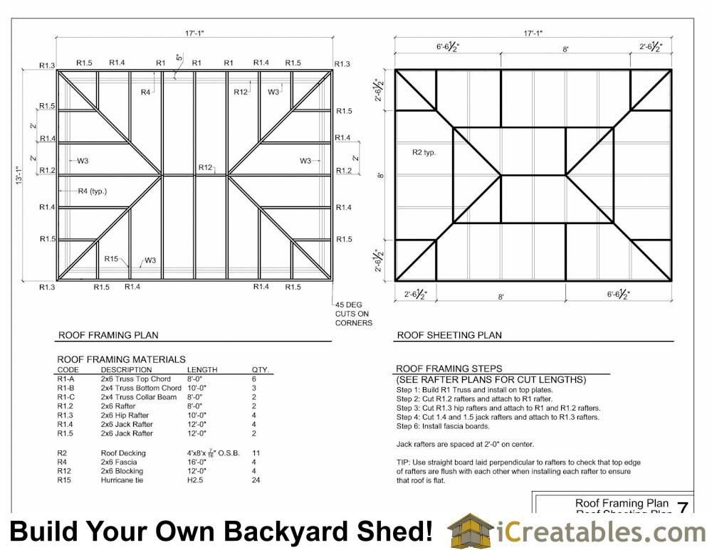 12x16 Hip Roof Shed Roof Design Roof Framing Hip Roof Shed Roof Design