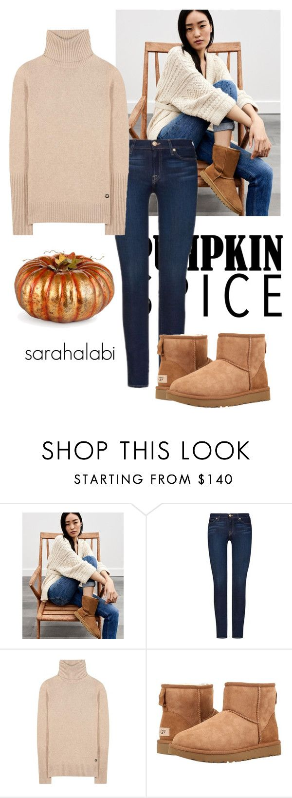 """we love us."" by sarsouur ❤ liked on Polyvore featuring UGG, 7 For All Mankind, Loro Piana, UGG Australia and Improvements"