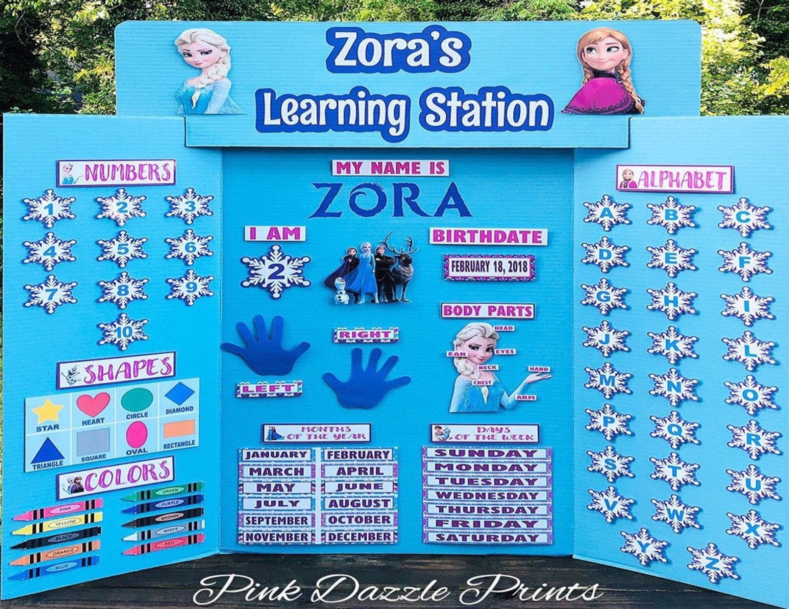Frozen Learning Station Learning Board Learning Center