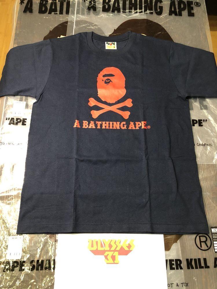 a24d5d2aa2bd A BATHING APE Pirate Store Crossbones T-Shirt BAPE Tee Size Medium  BAPE   GraphicTee