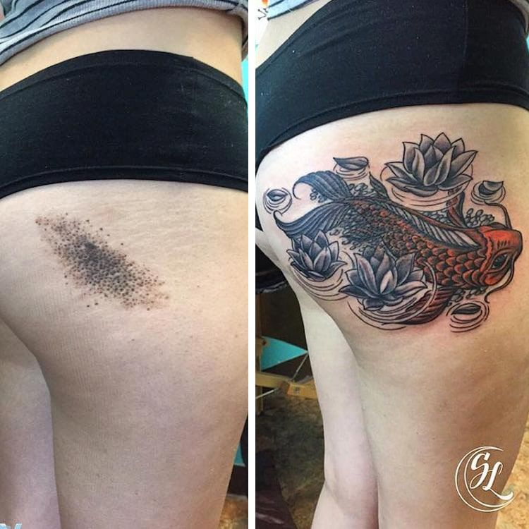 forearm scar cover up tattoos
