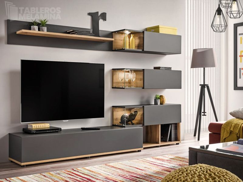 Mueble Central Para Salon Living Room Wall Units Living Room Entertainment Center Living Room Entertainment