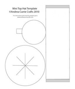 mini top hat template andrea currie crafts i think i can make it