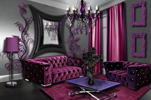 Salon Prune Idee Salon Deco Salon Et Salon Rose