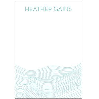 Personalize Waves Personalized Notepads | Paper Source