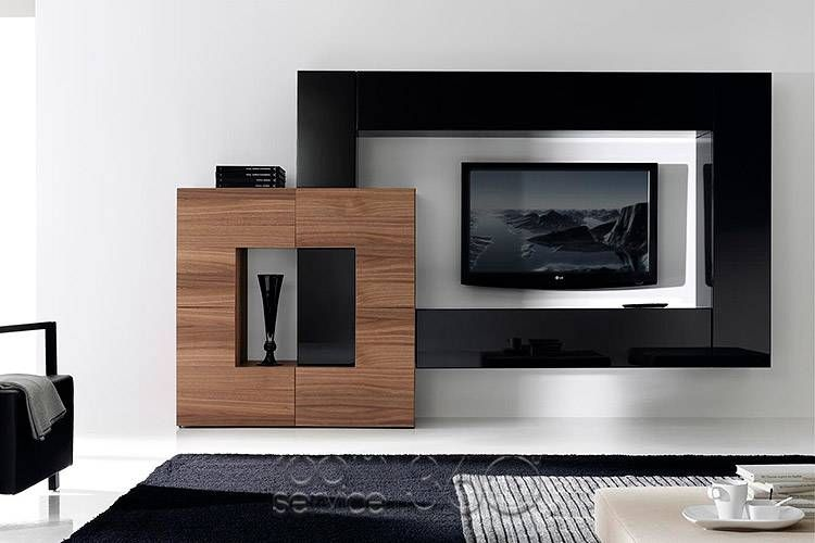 Gallery 128 designer wall unit by milmueble wall units and shelving pinterest designers - Modern tv wall unit ...