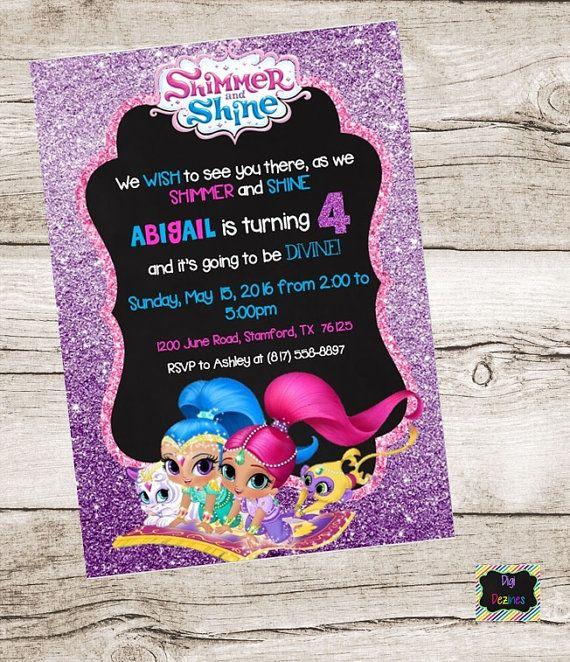 shine digital printable diy invitation