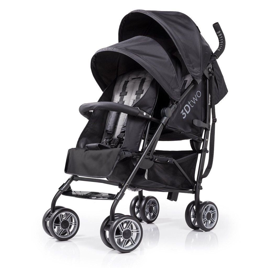 Summer Infant 3Dtwo Double Convenience Stroller Baby