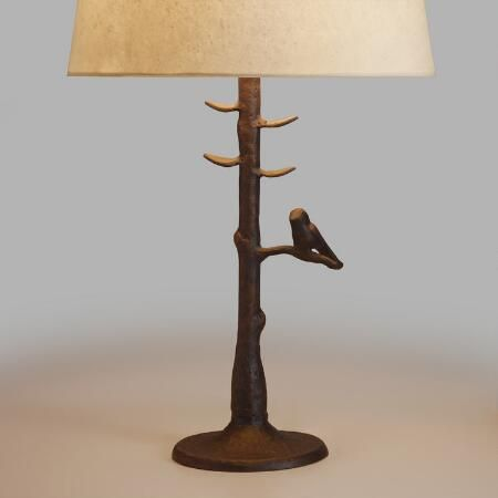 Bring A Touch Of The Outdoors Inside With Our Woodlands Table Lamp Base Its Aluminum Base Features A Bronze Powder Coated F Lampentisch Lampe Rustikale Lampen