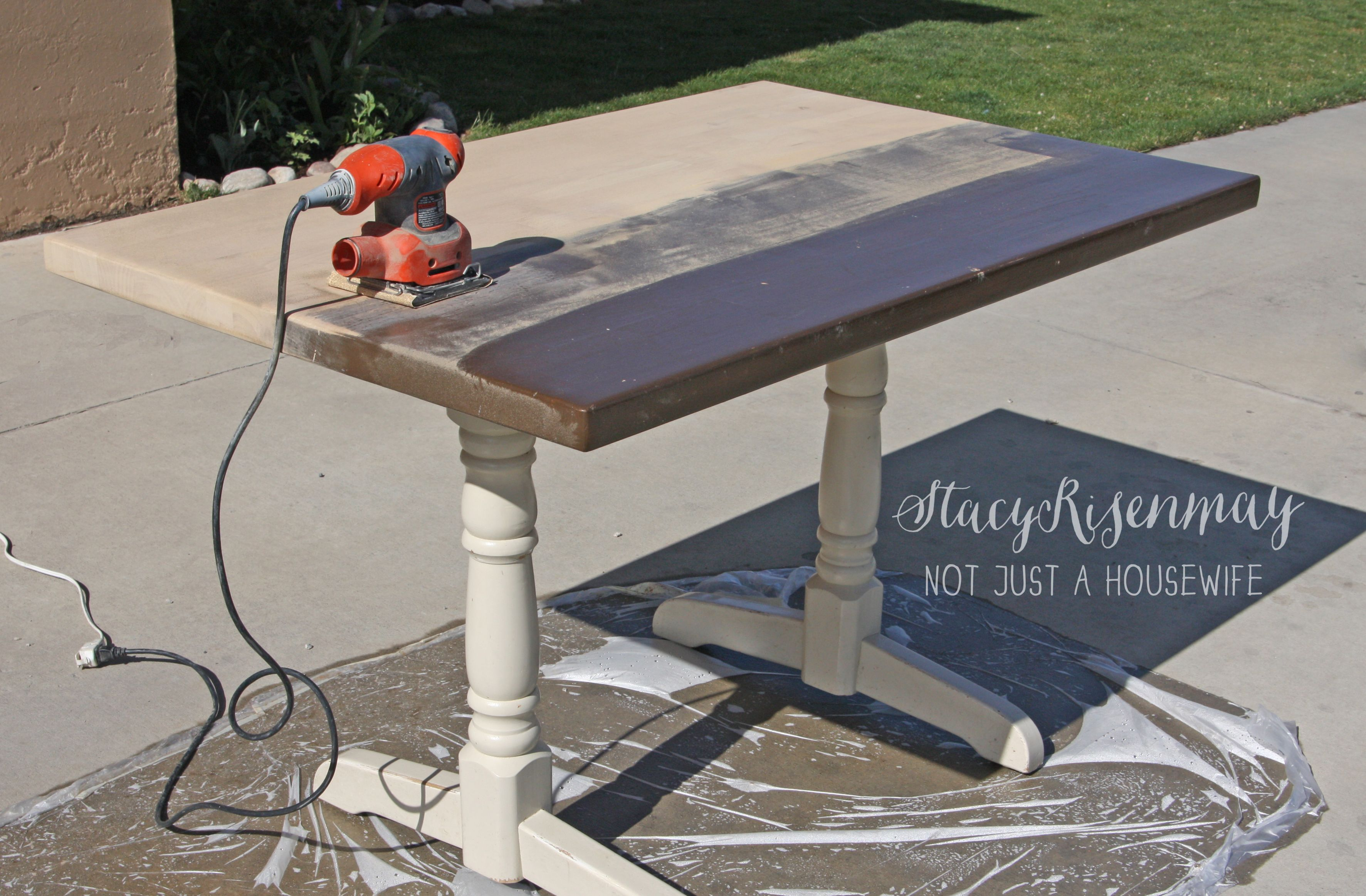 Refinishing wooden kitchen table