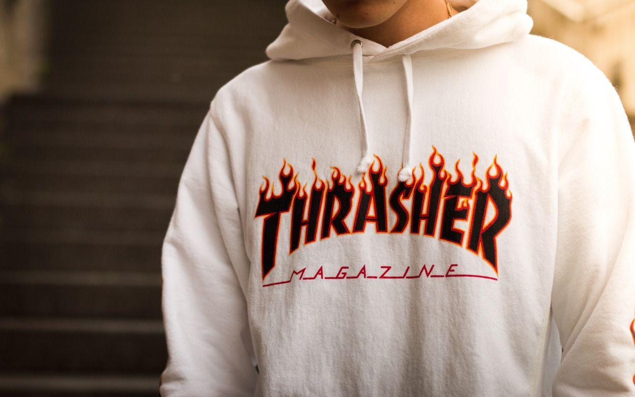 d1c809750ff6 Thrasher In Flames Hoodie