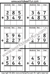 digit addition with regrouping  carrying   worksheets   digit addition with regrouping  carrying   worksheets