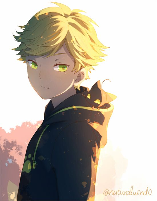 Adrien Agreste And Plagg Adorable Miraculous Ladybug Fanart