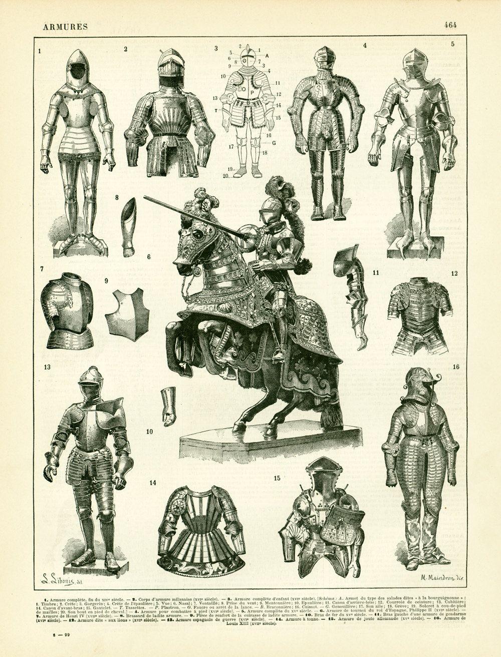1933 Caballero Armadura Gran Formato Juguete De Torneos De Etsy Caballeros Medievales Armadura De Caballero Armadura De Caballo