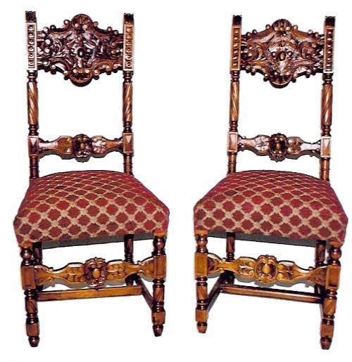 These two 19th century chairs faithfully evoke their Renaissance ancestry of intricate carving in the two horizontal rails making up the back and the single ...  sc 1 st  Pinterest & These two 19th century chairs faithfully evoke their Renaissance ...