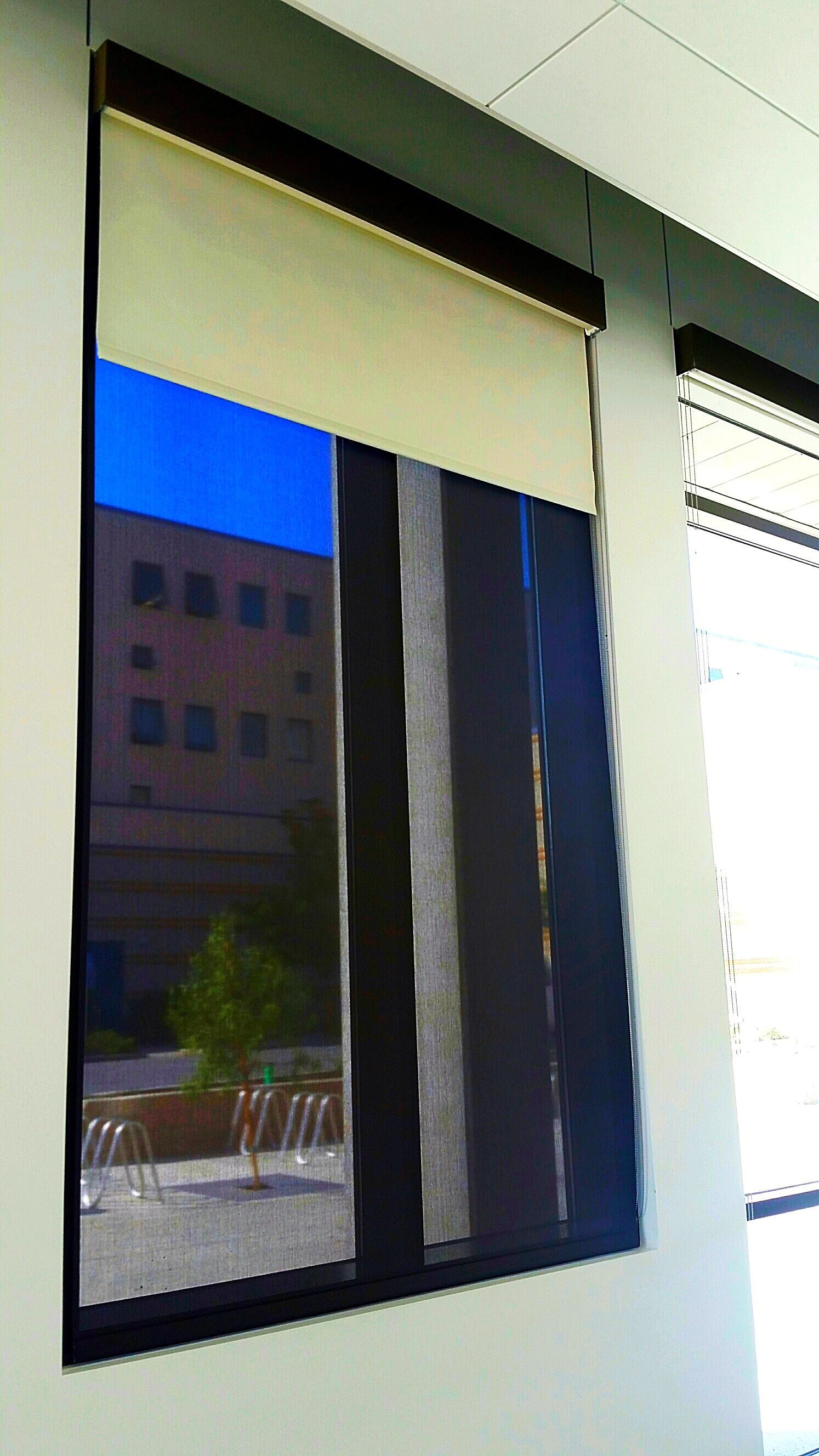 Painted Roller Shades : Hunter douglas rb dual roller shades with custom