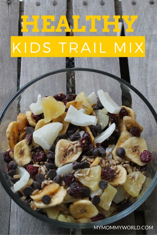 Healthy Kids Snack Recipes: After-School Trail Mix