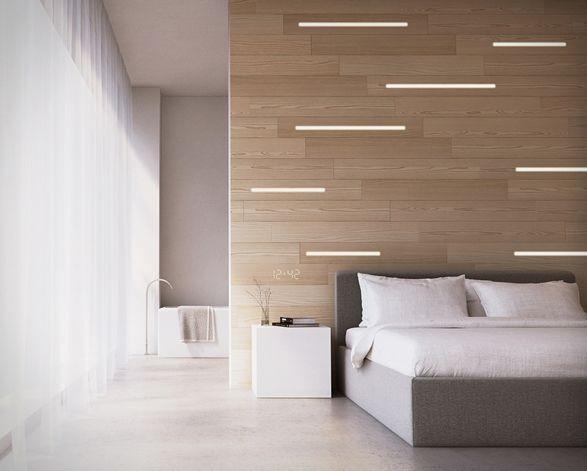 Arquitetura - Iluminação Integrada Hyde Desenhado por Danny Venlet para KOVR, o Hyde é um inovador sistema de iluminação, onde as luzes de LED estão embutidas dentro de painéis decorativos de 12 mm de espessura para uma iluminação perfeita. #arquitetura #iluminação #led