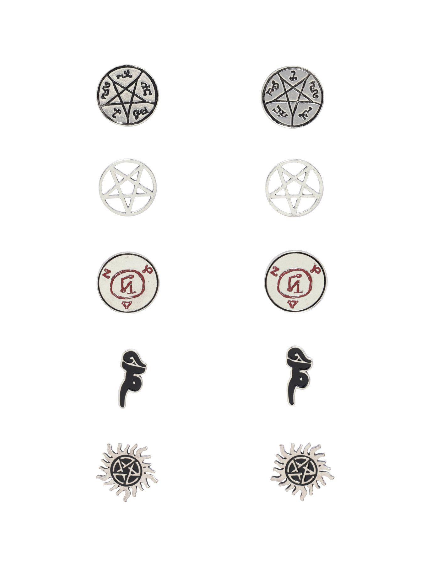 Supernatural symbols earring set supernatural symbols symbols and supernatural symbols earring set biocorpaavc Images