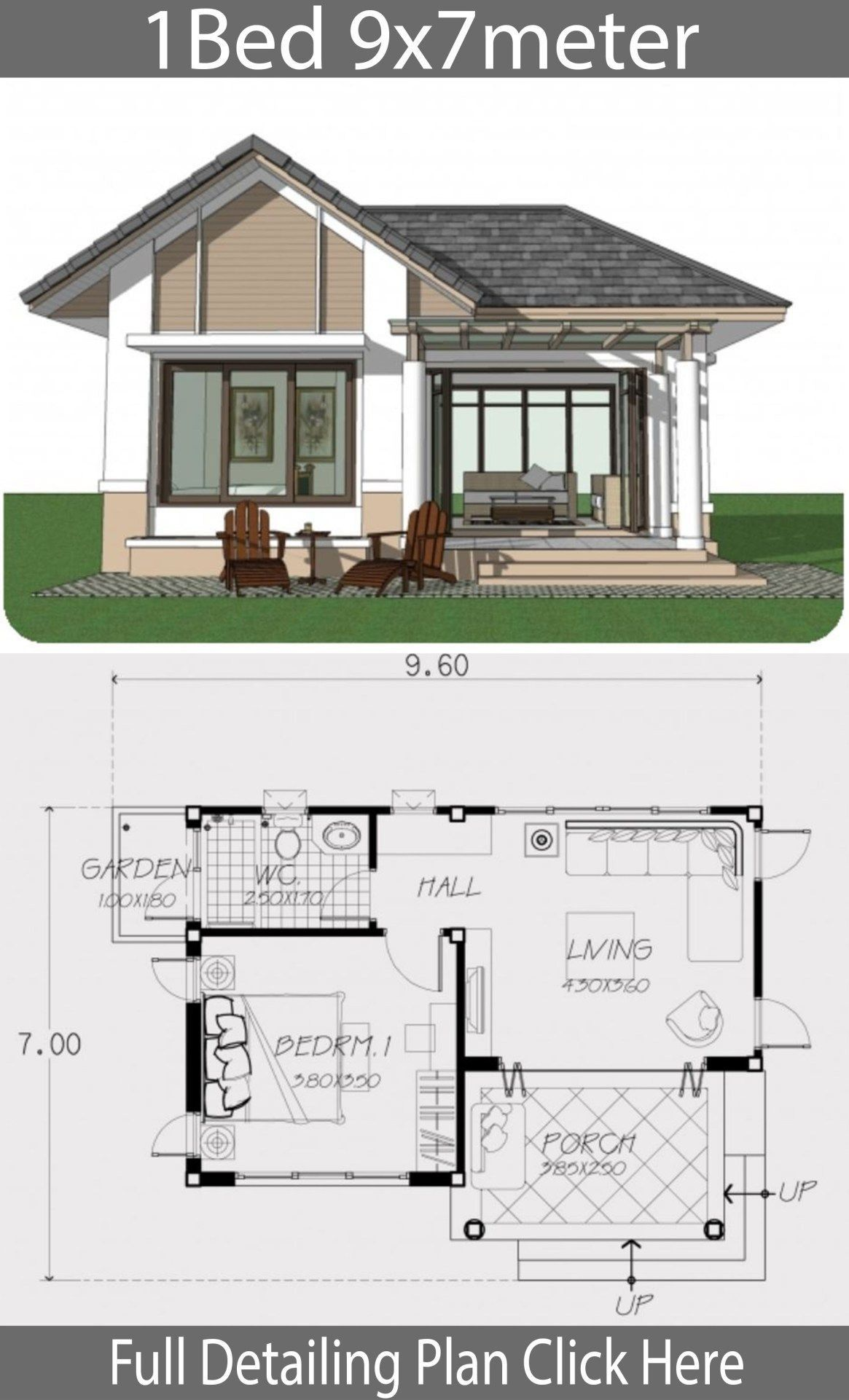 Modern One Bedroom House Plans 2020 In 2020 One Bedroom House House Plans Bungalow House Design