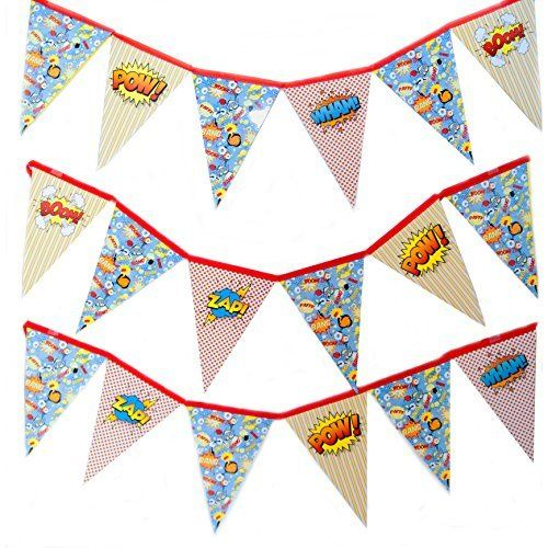 Out of This Universe Superhero Pennant Banner Decoration