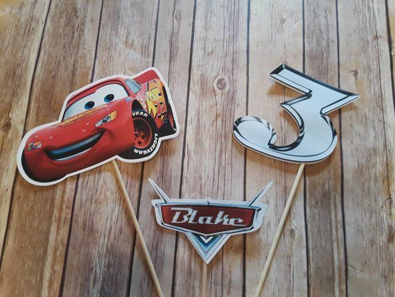 Cars Lighting Mcqueen Centerpiece Cars 1 Cars 2 Cars 3 Mater