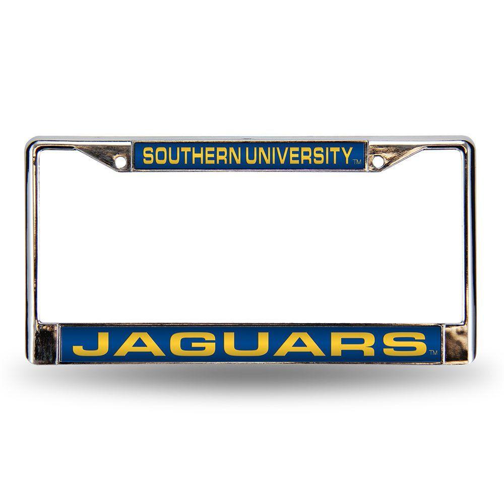Southern Jaguars NCAA Laser Chrome License Plate Frame