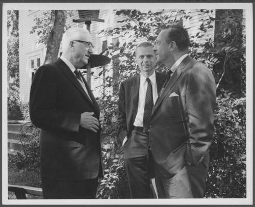 Dr. Karl Menninger and Walter Cronkite, 1961
