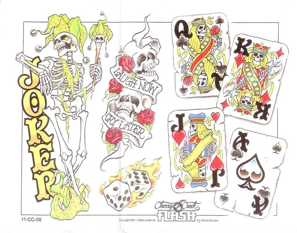 Las vegas tattoo pictures images photos photobucket - Gambling Poker Cards Tattoo Flash Art