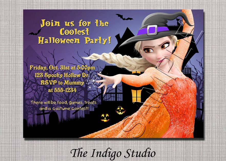 Frozen Halloween Party Invitation  OR Birthday by TheIndigoStudio, $11.00