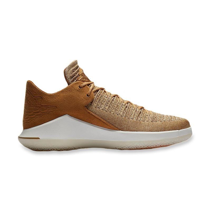 Nike Air Jordan Xxxii Low Wheat Sepatu Basket Pria Sepatu Basket