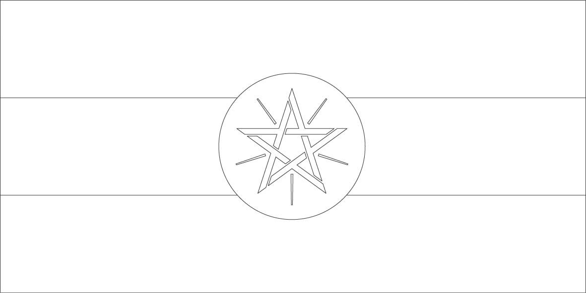 Ethiopia Flag Coloring Page Sonlight Core C Window On The